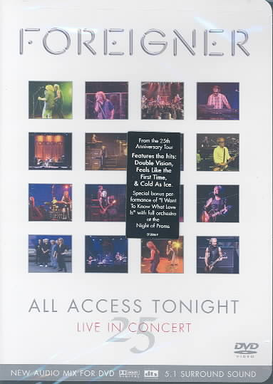 ALL ACESS TONIGHT:LIVE IN CONCERT BY FOREIGNER (DVD)